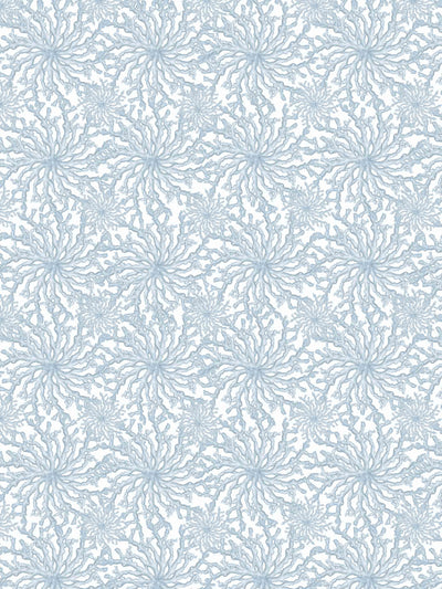 Coral Haze - Sky Blue - Wallpaper - Milola Design