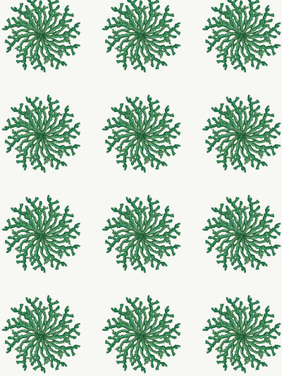 Great Balls of Coral - Green - Wallpaper - Milola Design