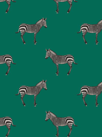 Mr. Z - Forest Green - Wallpaper - Milola Design