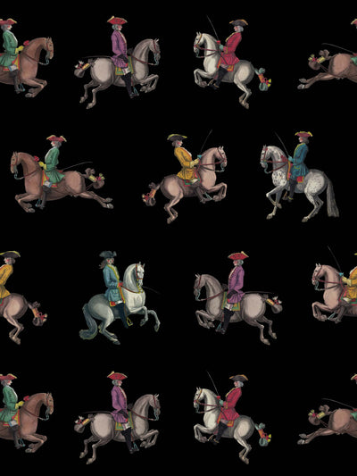 Riding School - Black - Wallpaper - Milola Design