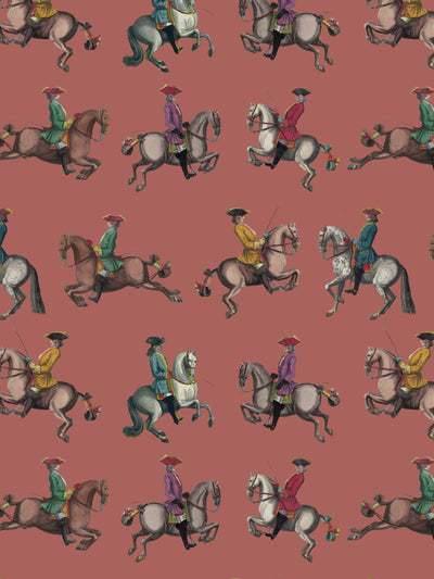 Riding School - Sienna - Wallpaper - Milola Design