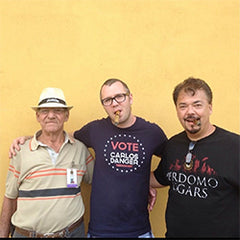 Brandon with cigar makers