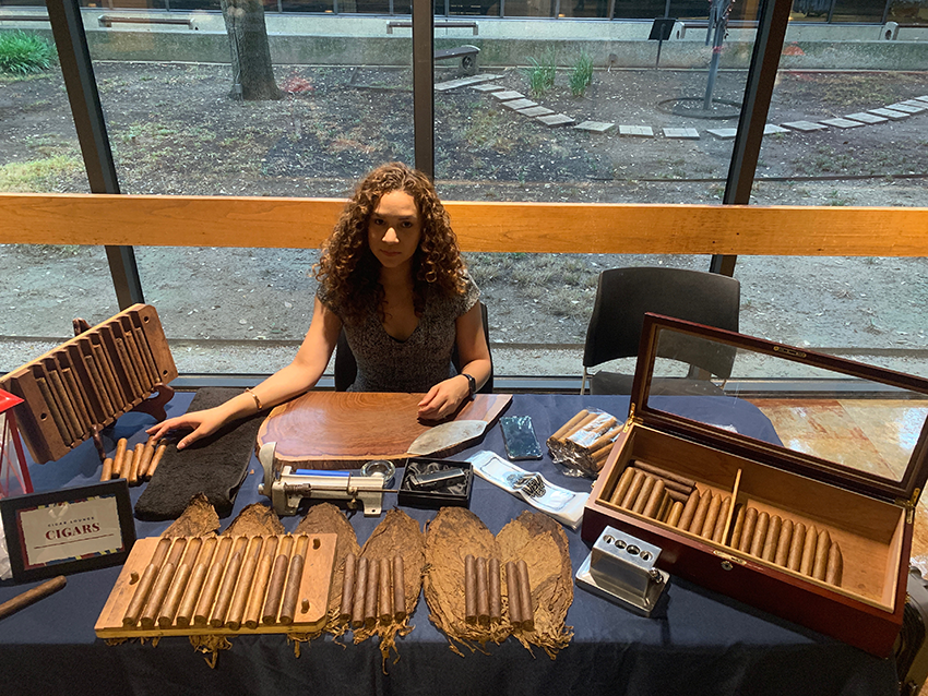 woman rolling cigars dallas texas