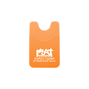 """Logo"" Orange Cell Phone Wallet"