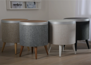 Smart Side Table with 360 Speaker - Touch Screen & Wireless Charging