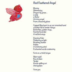 Red Feathered Angel