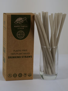 Happy Turtle Straw Box 100 White Straws