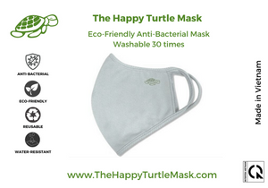The Happy Turtle Mask Grey (Pack of 2)