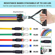 Load image into Gallery viewer, Resiatance bands 11 Pcs set - Ultimate Workout