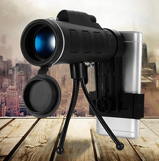 Professional Telescope with Smartphone Holder Tripod