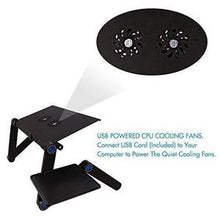Load image into Gallery viewer, T8 ADJUSTABLE VENTED LAPTOP TABLE WITH USB COOLING FAN