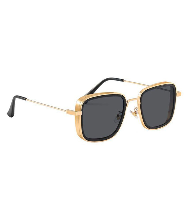 Rectangle Style Sunglasses - Grey / Gold