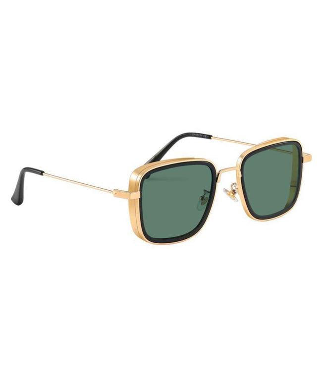 Rectangle Sunglasses-  Gold/Brown
