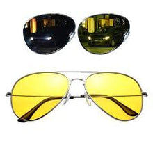 Load image into Gallery viewer, Night Vision Aviator Sunglasses
