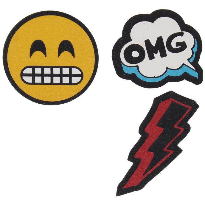 Twig & Arrow Womens Emoji OMG Lightning Bolt Adhesive Stickers