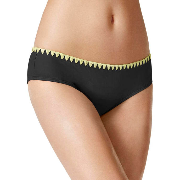 Bikini Nation Womens Embroidered Contrast Detail Swim Bottom Separates