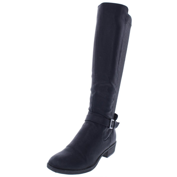 Style & Co. Womens Luciaa Textured Knee-High Riding Boots