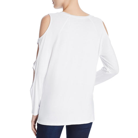 Alison Andrews Womens Cold Shoulder Jersey T-Shirt