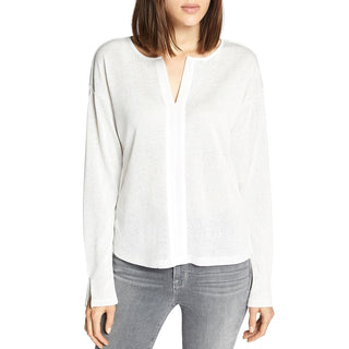 Sanctuary Womens Sienna Metallic Sheer Pullover Top