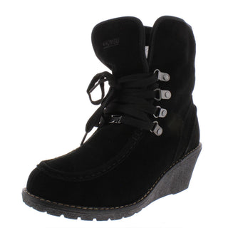 Khombu Womens Sienna Fold Over Waterproof Wedge Boots
