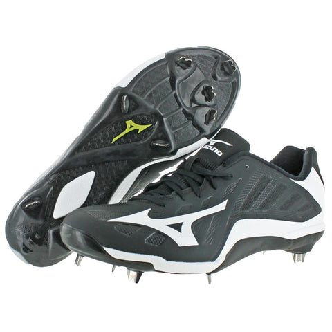 Mizuno Heist IQ Men's Faux Suede Lace-Up Low-Top Metal Baseball Cleat Shoes