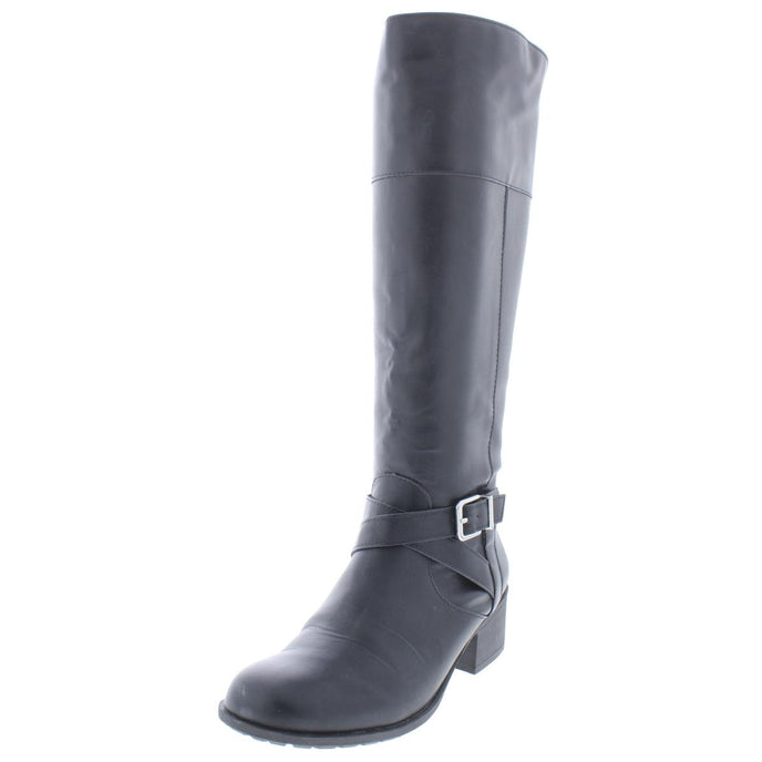 Style & Co. Womens Venesa Faux Leather Knee-High Riding Boots