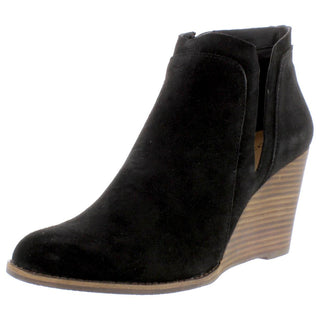 Lucky Brand Women's Yabba Stacked Wedge Ankle Bootie