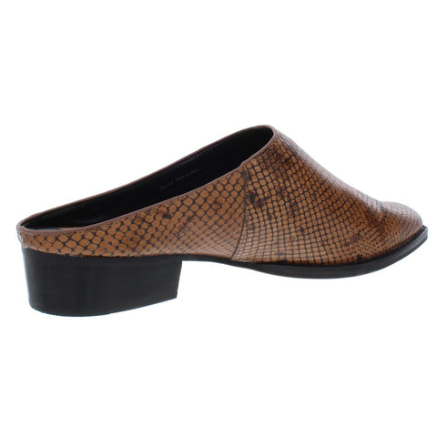 Brown Snake Embossed Leather