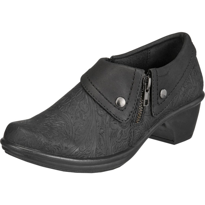 Easy Street Womens Darcy Faux Leather Croc Embossed Shooties