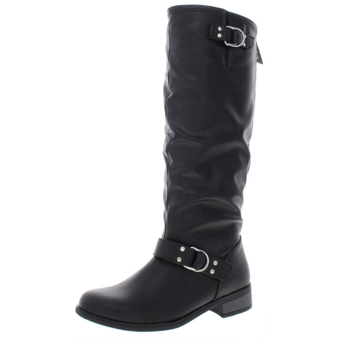 XOXO Womens Minkler Faux Leather Knee-High Riding Boots