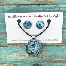 Load image into Gallery viewer, Ocean Vibes Necklace & Earrings Set
