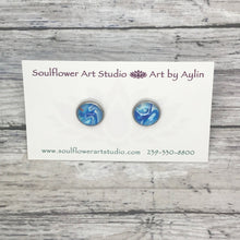 "Load image into Gallery viewer, ""Dreamy"" Abstract Stud Earrings"