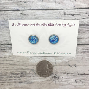 """Dreamy"" Abstract Stud Earrings"