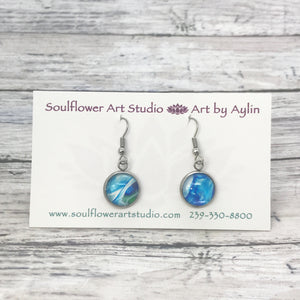 """Fluidity"" Wearable Art Stud Earrings"