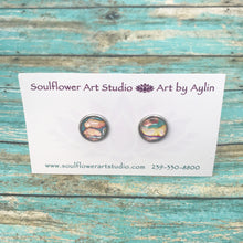"Load image into Gallery viewer, ""Coral Blush"" Wearable Art Stud Earrings"