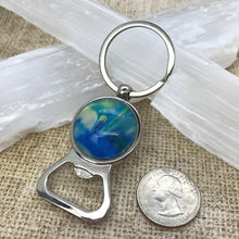 Load image into Gallery viewer, Blue Green Artsy Keychain & Bottle Opener