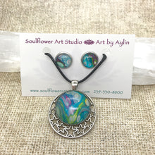 Load image into Gallery viewer, Starry Dreams Blue Necklace & Earrings Set - Wearable Art