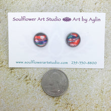 "Load image into Gallery viewer, ""Orange Sorbet"" Abstract Art Earrings"