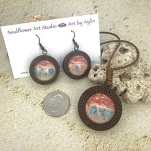 Load image into Gallery viewer, Sandstorm Boho Wooden Necklace & Earrings Set