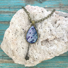 "Load image into Gallery viewer, ""Purple Rain"" Wearable Art Necklace"