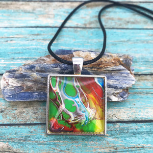 """Think Outside the Box"" Wearable Art Necklace"