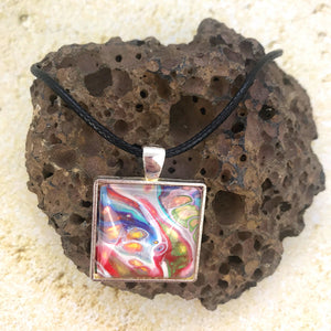 """Happy Quad"" Wearable Art Necklace"