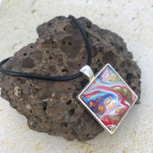 "Load image into Gallery viewer, ""Happy Quad"" Wearable Art Necklace"