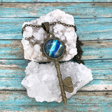Load image into Gallery viewer, Rt66 Blue Vintage Key Necklace
