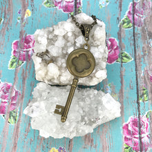 Load image into Gallery viewer, Vintage Key 67 Fluid Art Necklace