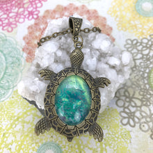 Load image into Gallery viewer, Lucky Green Turtle Wearable Art Necklace