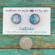 Load image into Gallery viewer, Artsy Abstract Cufflinks #103