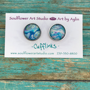 Artsy Abstract Cufflinks #104