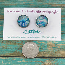 Load image into Gallery viewer, Artsy Abstract Cufflinks #104