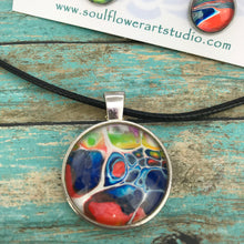 Load image into Gallery viewer, Colorful Abstract Necklace & Earrings Set